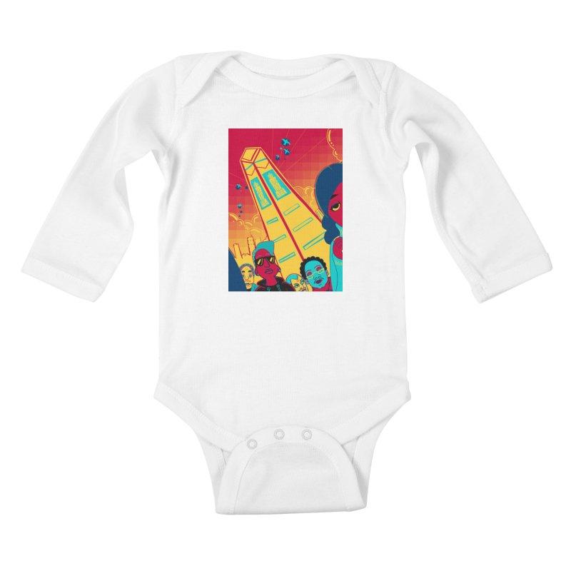 Presidential Tower Card Art Kids Baby Longsleeve Bodysuit by The Spiffai Shop