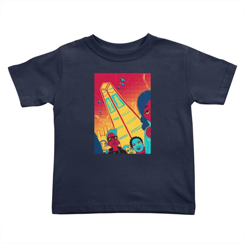 Presidential Tower Card Art Kids Toddler T-Shirt by The Spiffai Shop