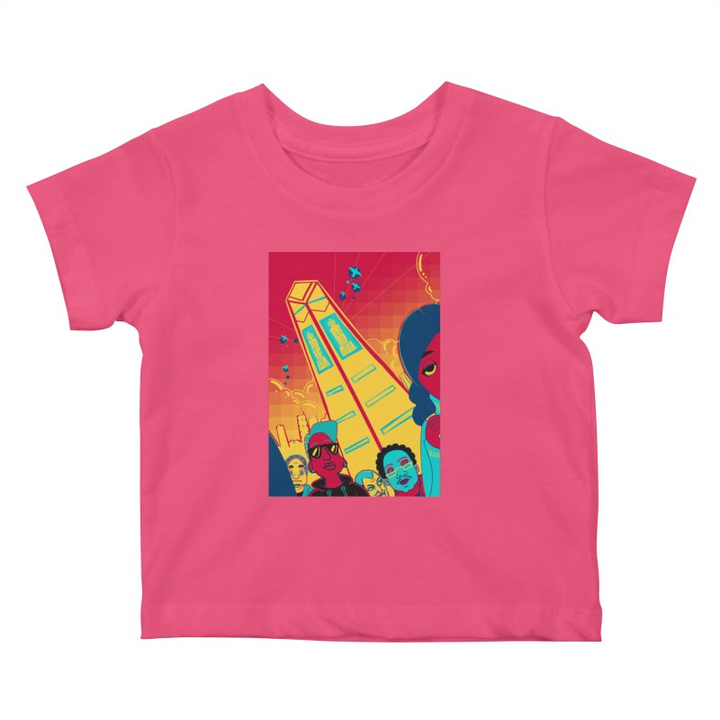 Presidential Tower Card Art Kids Baby T-Shirt by The Spiffai Shop
