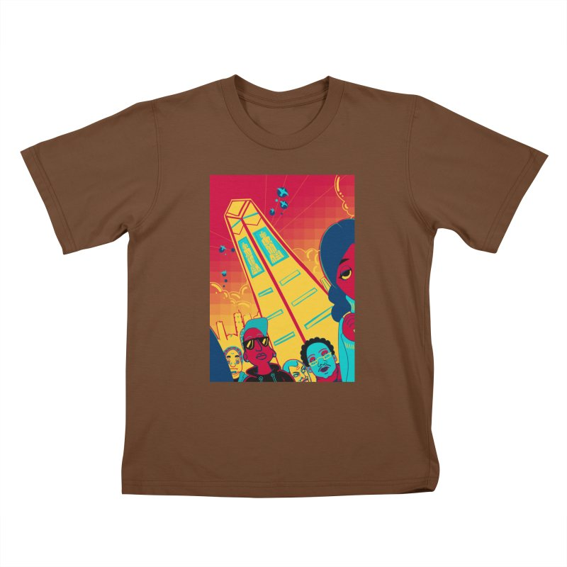 Presidential Tower Card Art Kids T-Shirt by The Spiffai Shop