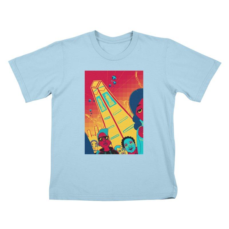 Presidential Tower Card Art Kids T-Shirt by The Spiffai Shop