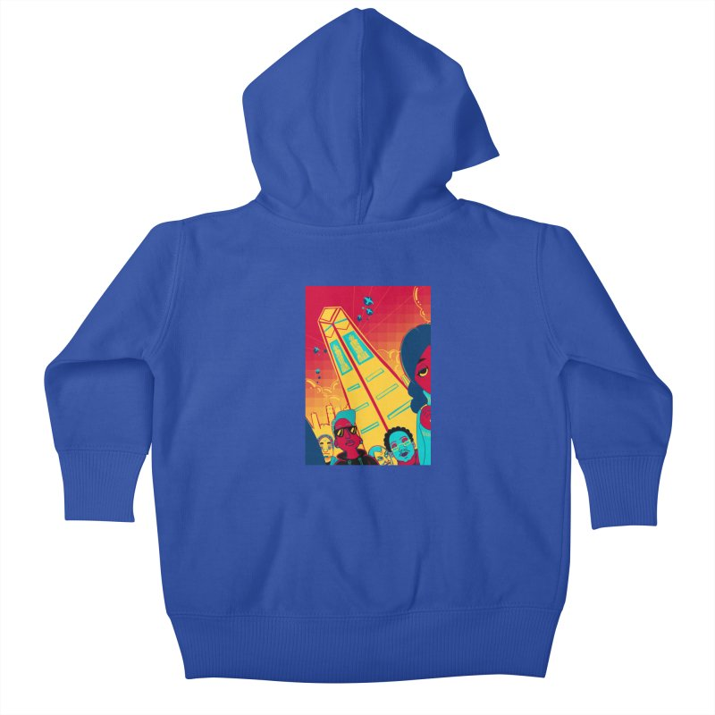 Presidential Tower Card Art Kids Baby Zip-Up Hoody by The Spiffai Shop