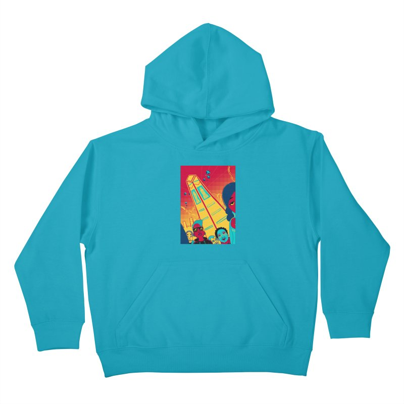 Presidential Tower Card Art Kids Pullover Hoody by The Spiffai Shop