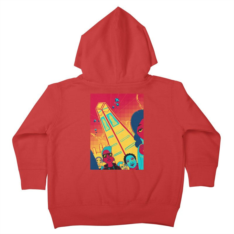 Presidential Tower Card Art Kids Toddler Zip-Up Hoody by The Spiffai Shop