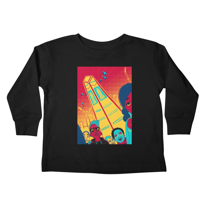 Presidential Tower Card Art Kids Toddler Longsleeve T-Shirt by The Spiffai Shop