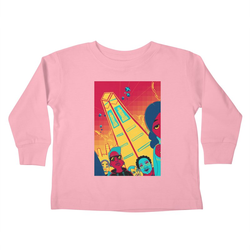 Presidential Tower Card Art Kids Toddler Longsleeve T-Shirt by The Spiffai Shop