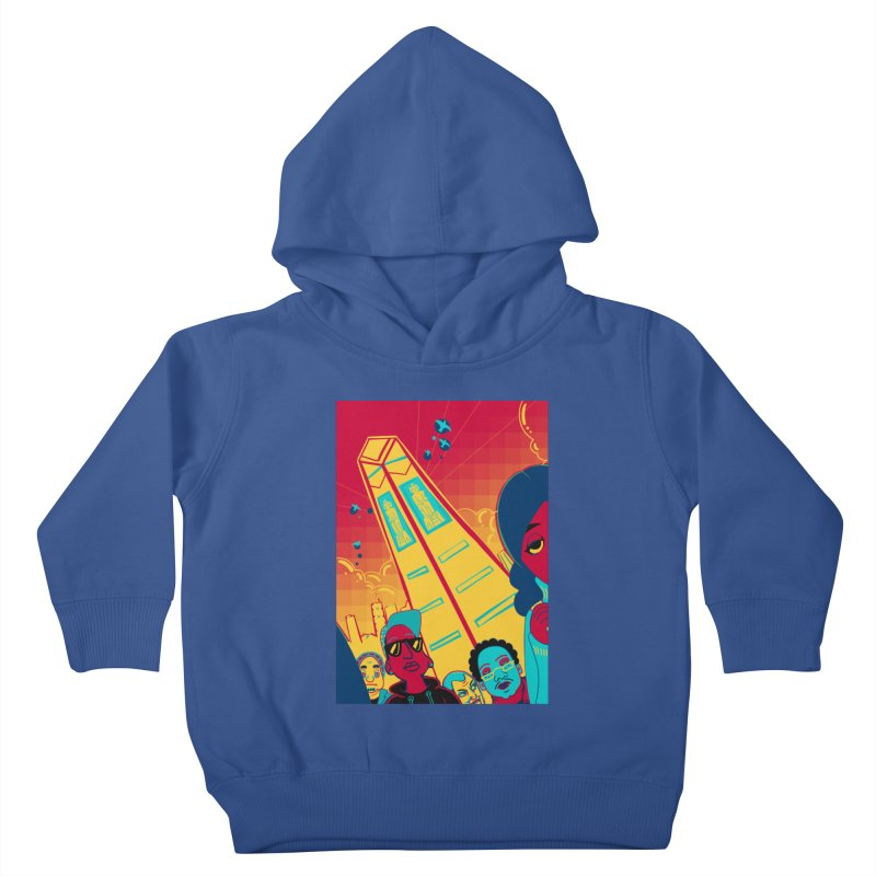 Presidential Tower Card Art Kids Toddler Pullover Hoody by The Spiffai Shop
