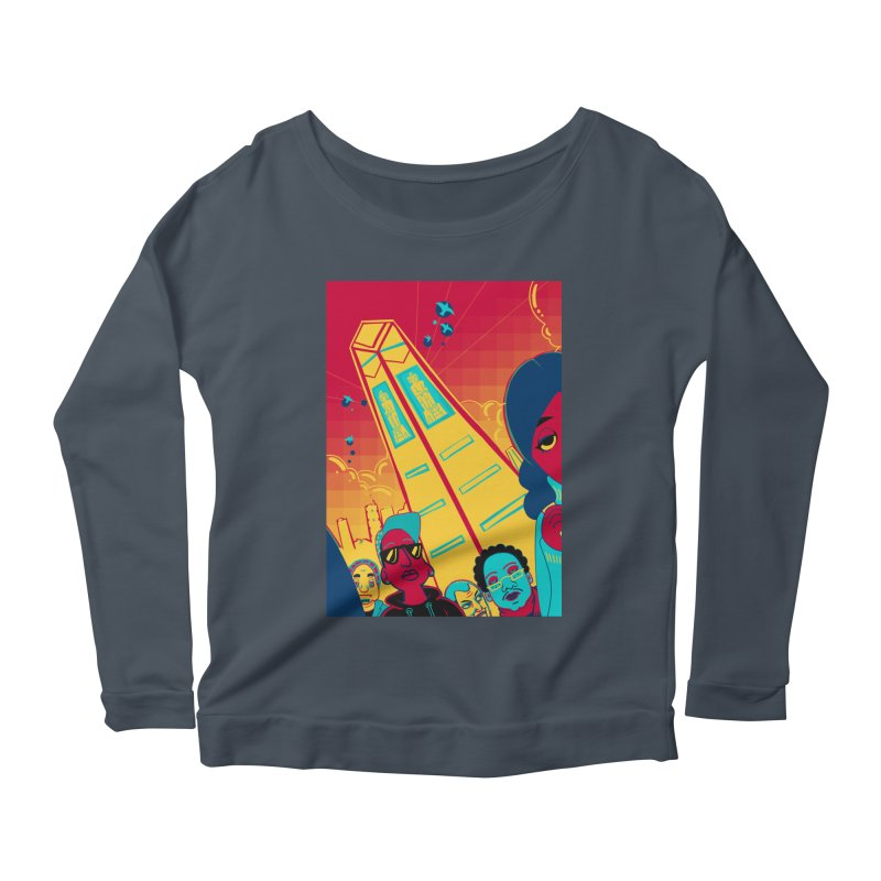 Presidential Tower Card Art Women's Longsleeve Scoopneck  by The Spiffai Shop