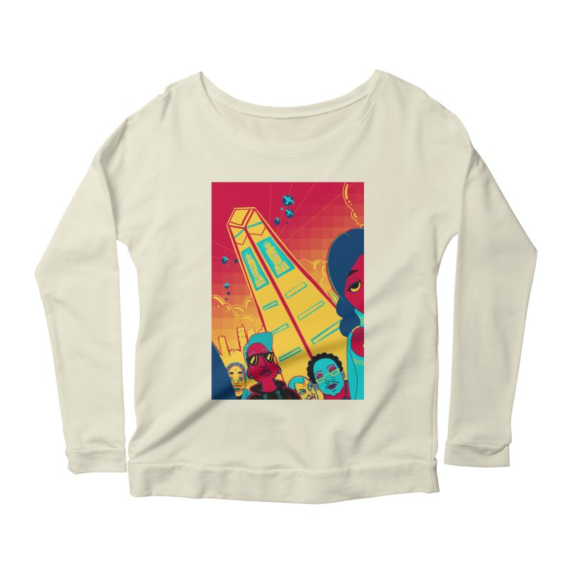 Presidential Tower Card Art Women's Scoop Neck Longsleeve T-Shirt by The Spiffai Shop