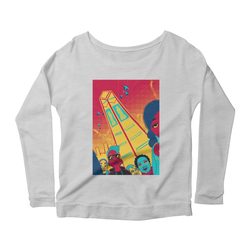 Presidential Tower Card Art Women's Scoop Neck Longsleeve T-Shirt by The Spiffai Shop
