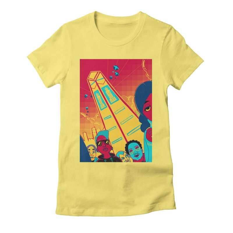 Presidential Tower Card Art Women's Fitted T-Shirt by The Spiffai Shop