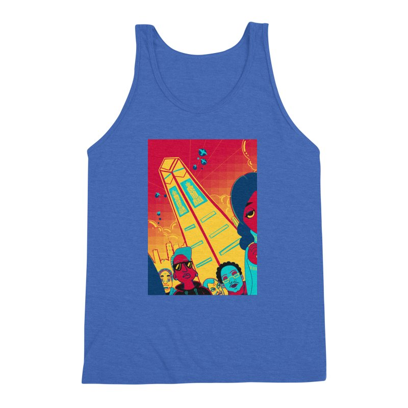 Presidential Tower Card Art Men's Triblend Tank by The Spiffai Shop