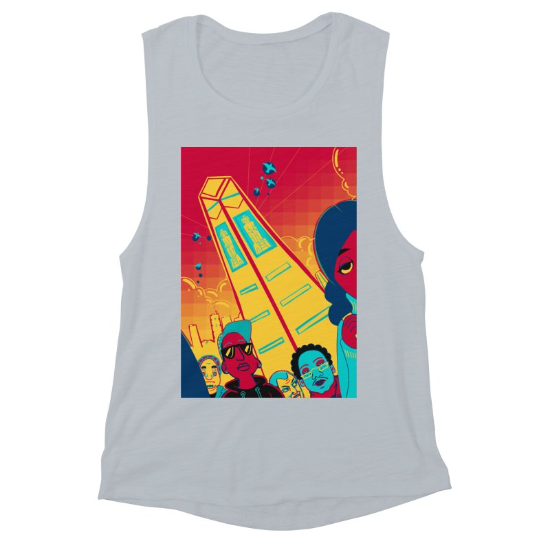 Presidential Tower Card Art Women's Muscle Tank by The Spiffai Shop