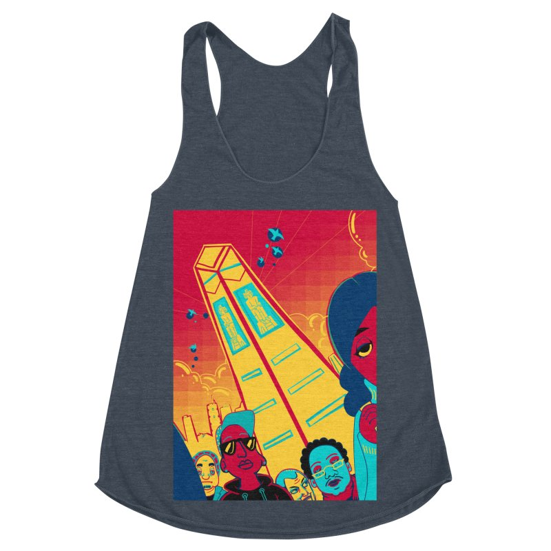 Presidential Tower Card Art Women's Racerback Triblend Tank by The Spiffai Shop