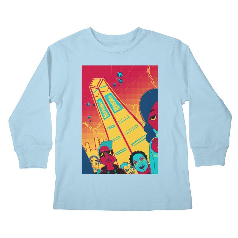 Presidential Tower Card Art Kids Longsleeve T-Shirt by The Spiffai Shop