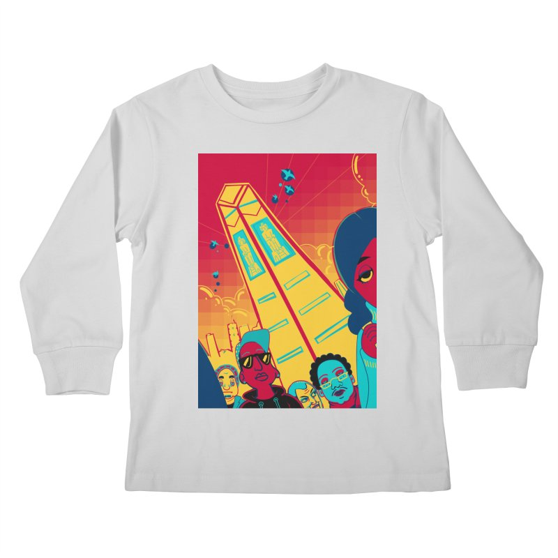 Presidential Tower Card Art Kids Longsleeve T-Shirt by The Spiffai Shop
