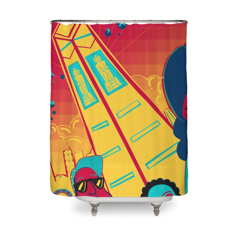 Presidential Tower Card Art Home Shower Curtain by The Spiffai Shop