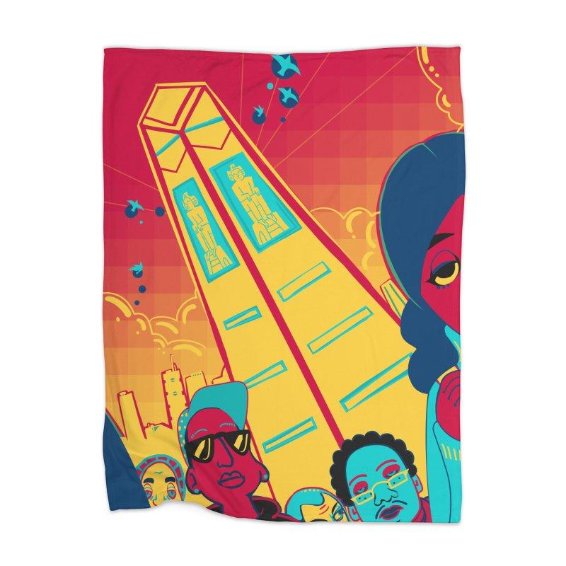 Presidential Tower Card Art Home Blanket by The Spiffai Shop