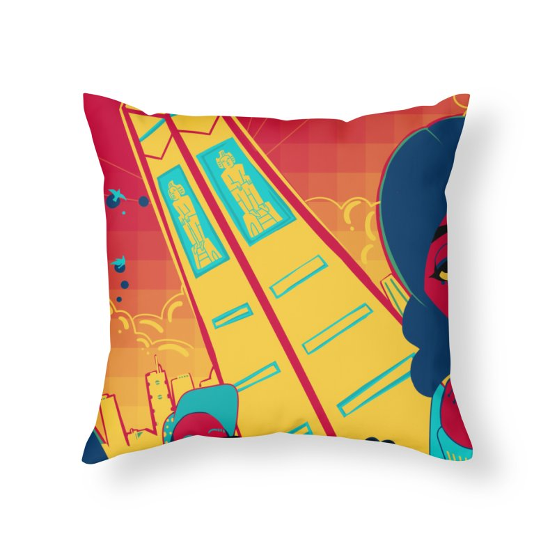 Presidential Tower Card Art Home Throw Pillow by The Spiffai Shop