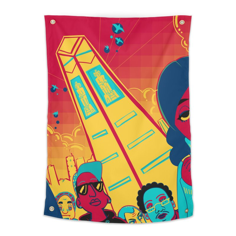 Presidential Tower Card Art Home Tapestry by The Spiffai Shop