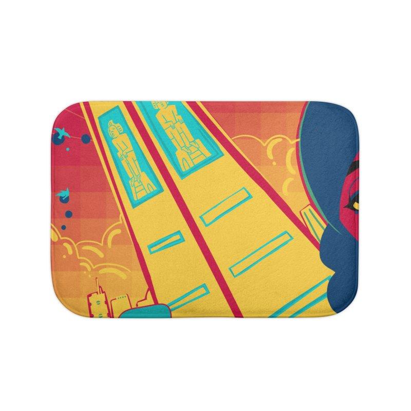 Presidential Tower Card Art Home Bath Mat by The Spiffai Shop