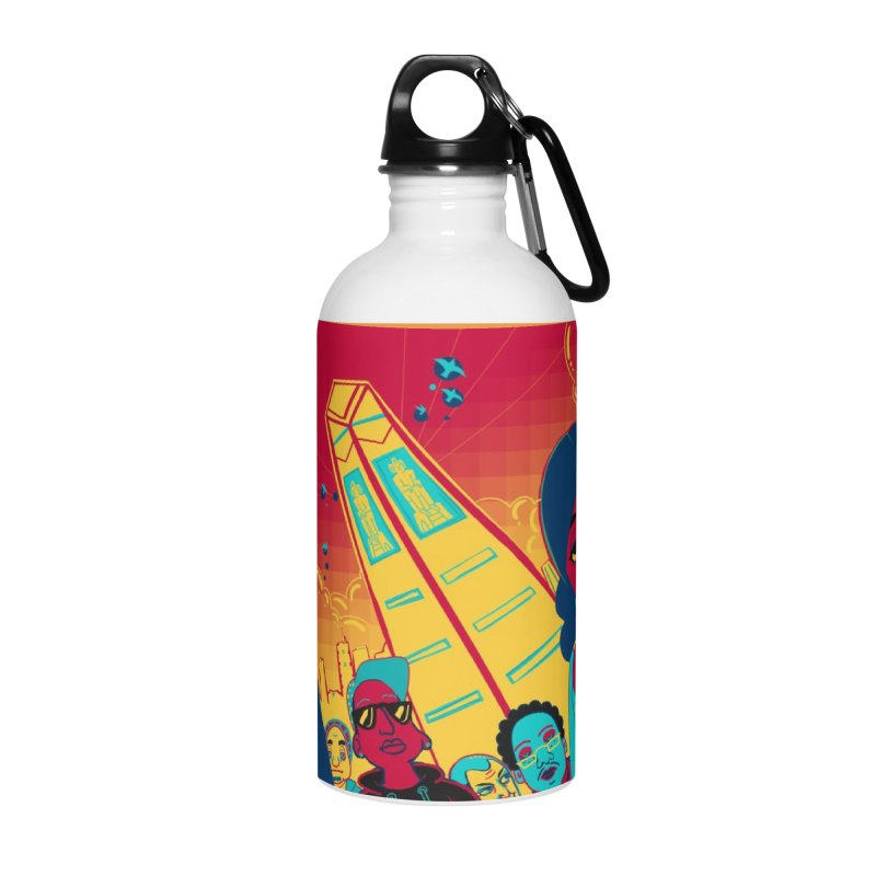 Presidential Tower Card Art Accessories Water Bottle by The Spiffai Shop