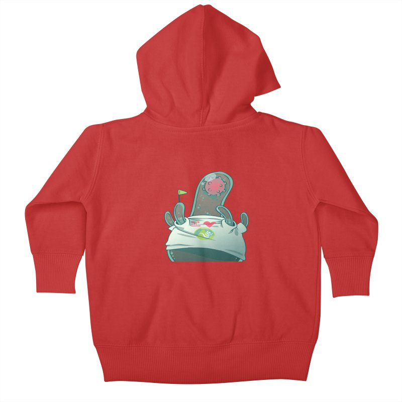 Azimuth from S2V2 Kids Baby Zip-Up Hoody by The Spiffai Shop