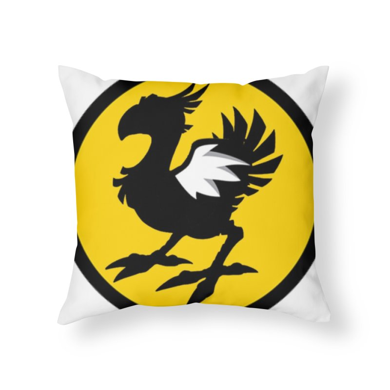 Chocobo Wild Wings Home Throw Pillow by Spinosaurus's Artist Shop