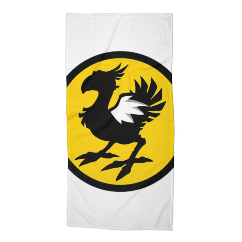 Chocobo Wild Wings Accessories Beach Towel by Spinosaurus's Artist Shop