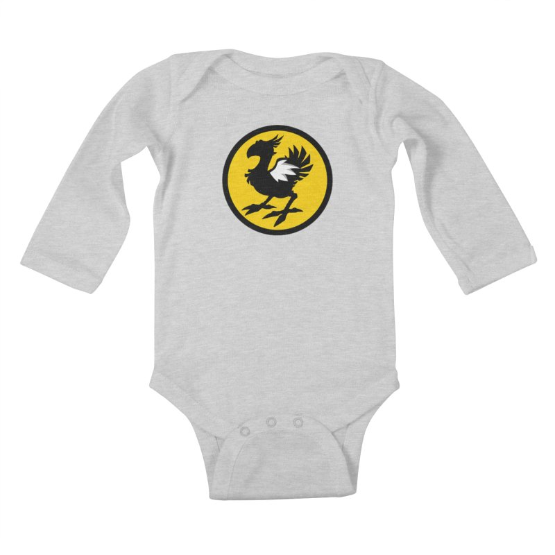 Chocobo Wild Wings Kids Baby Longsleeve Bodysuit by Spinosaurus's Artist Shop