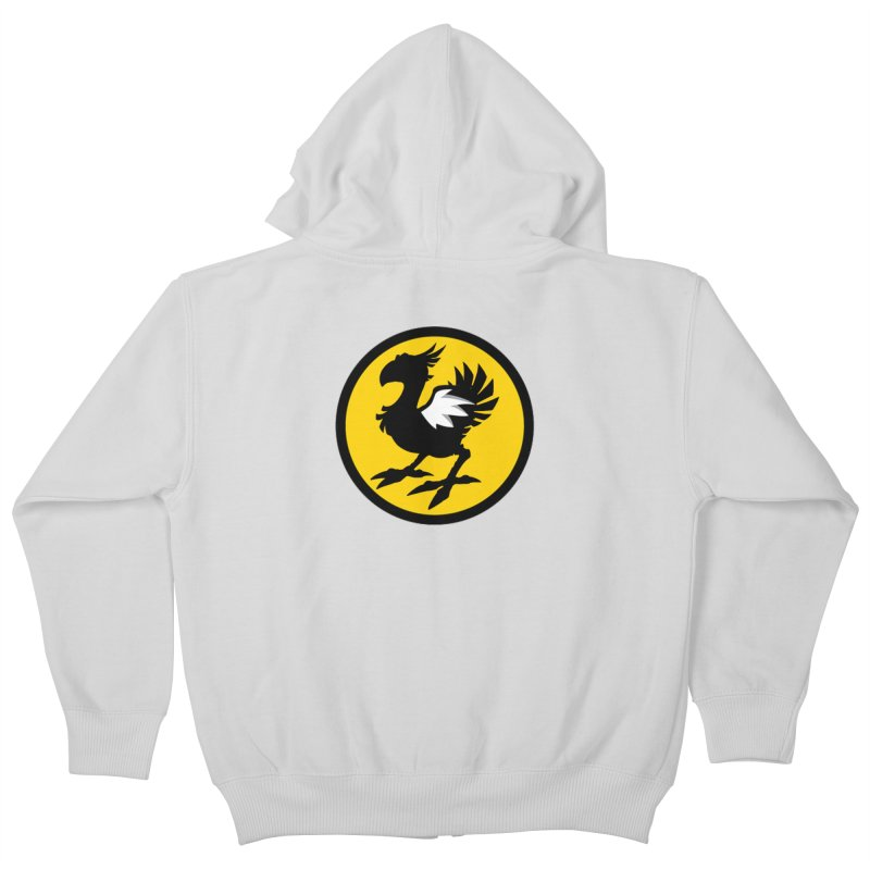 Chocobo Wild Wings Kids Zip-Up Hoody by Spinosaurus's Artist Shop