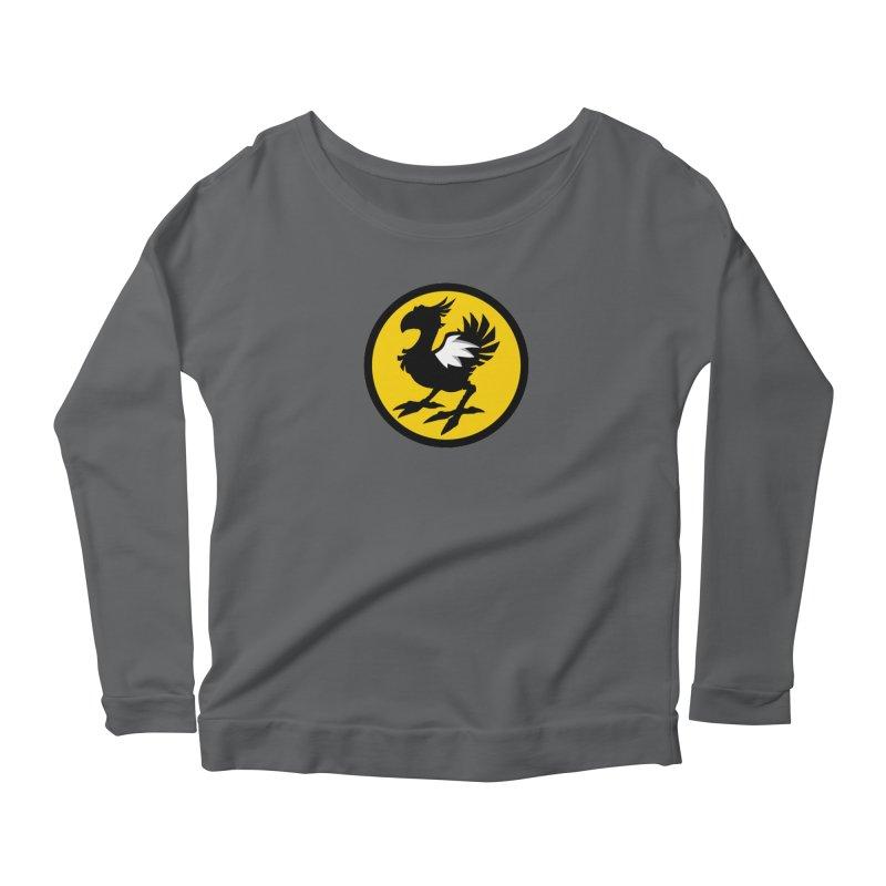 Chocobo Wild Wings Women's Scoop Neck Longsleeve T-Shirt by Spinosaurus's Artist Shop