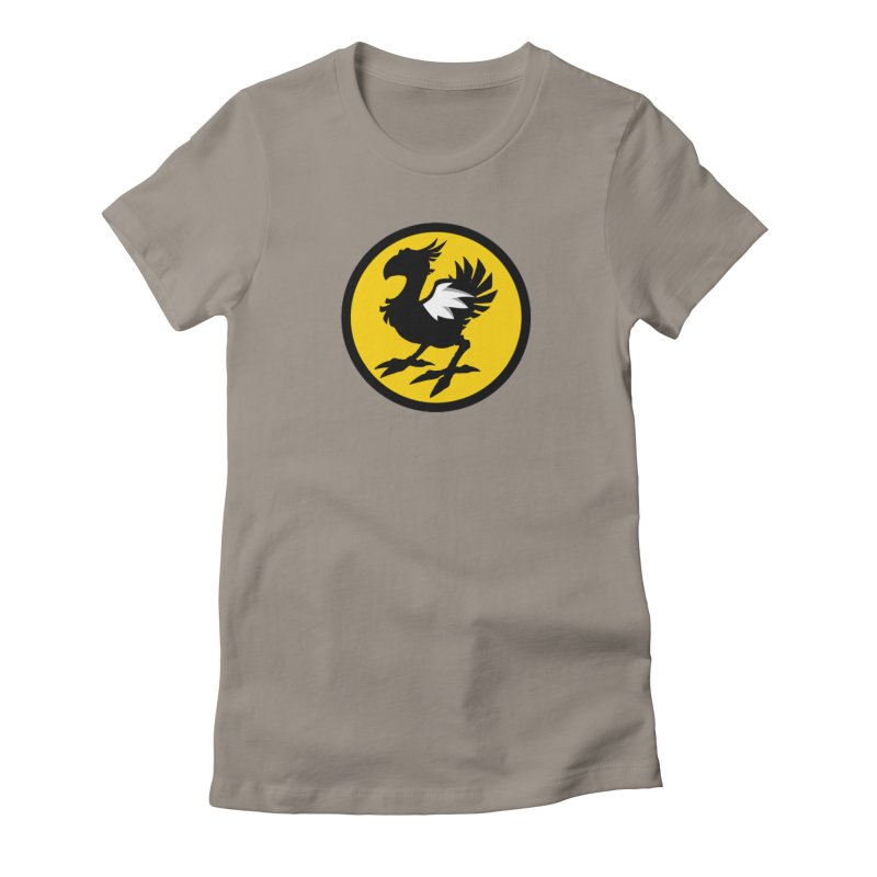 Chocobo Wild Wings Women's Fitted T-Shirt by Spinosaurus's Artist Shop