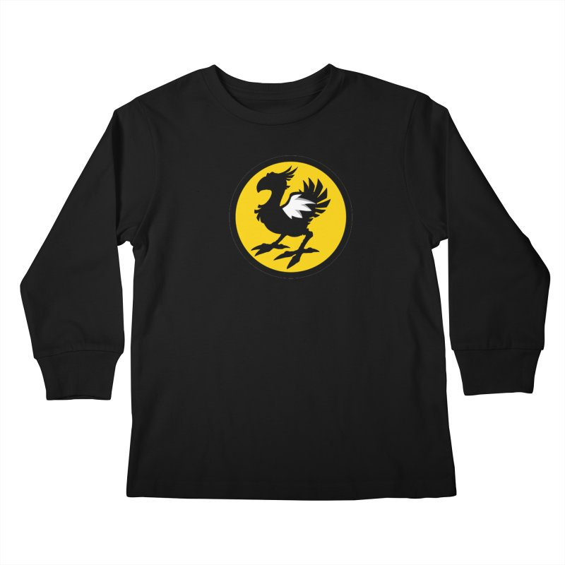 Chocobo Wild Wings Kids Longsleeve T-Shirt by Spinosaurus's Artist Shop
