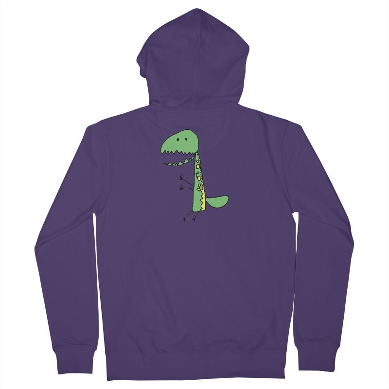 Chompasaurus Women's French Terry Zip-Up Hoody by Spinosaurus's Artist Shop