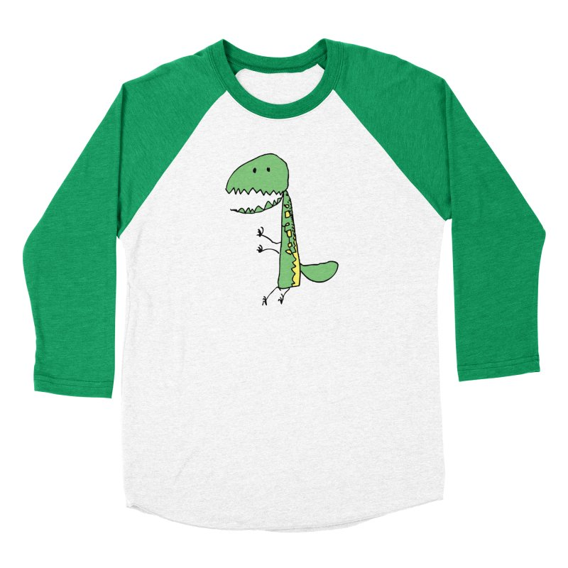 Chompasaurus Men's Baseball Triblend T-Shirt by Spinosaurus's Artist Shop