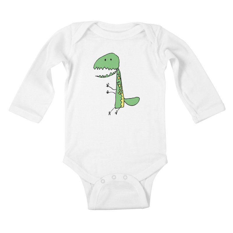Chompasaurus Kids Baby Longsleeve Bodysuit by Spinosaurus's Artist Shop