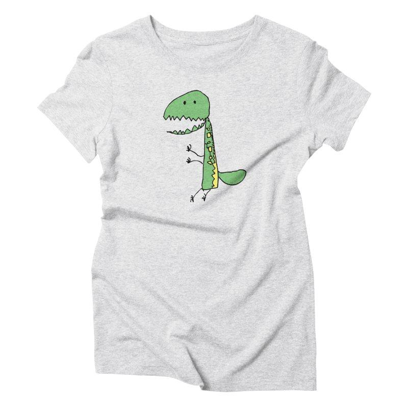 Chompasaurus Women's Triblend T-Shirt by Spinosaurus's Artist Shop
