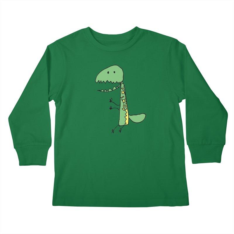 Chompasaurus Kids Longsleeve T-Shirt by Spinosaurus's Artist Shop