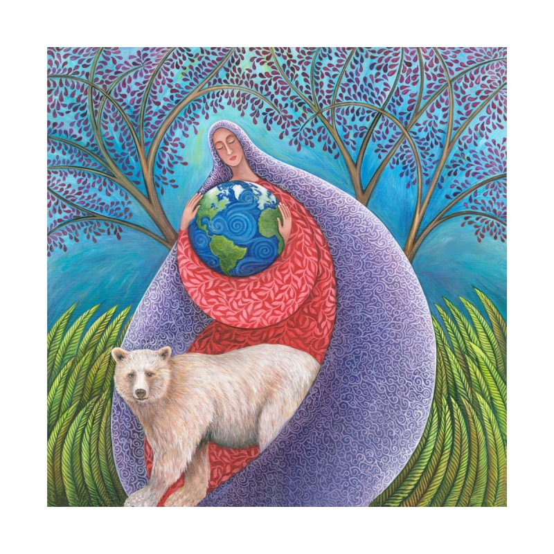Earth Prayer: Protection Home Throw Pillow by Spirit Works 4 U Artist Shop