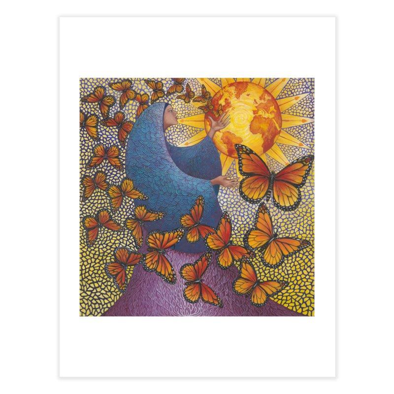 Earth Prayer: Transformation Home Fine Art Print by Spirit Works 4 U Artist Shop