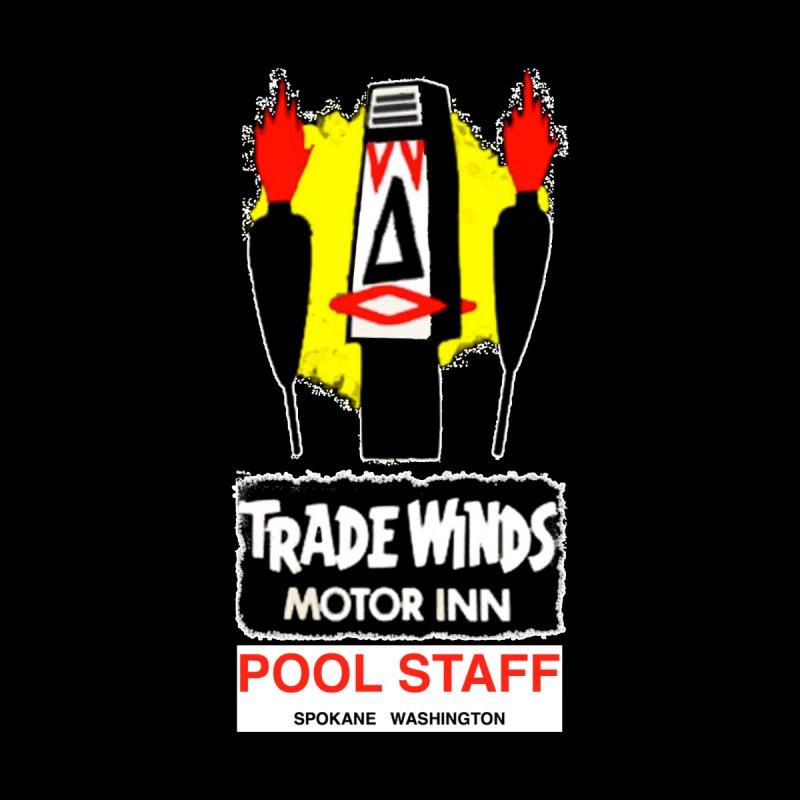 TRADE WINDS pool staff dark version Women's Longsleeve T-Shirt by Spokanarama Mart