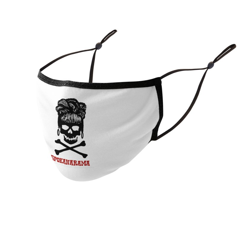Spokanarama Logo Black Accessories Face Mask by Spokanarama Mart