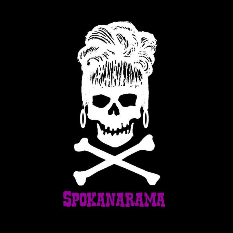 Spokanarama White Skull Accessories Greeting Card by Spokanarama Mart