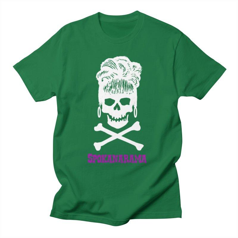 Spokanarama White Skull Men's T-Shirt by Spokanarama Mart