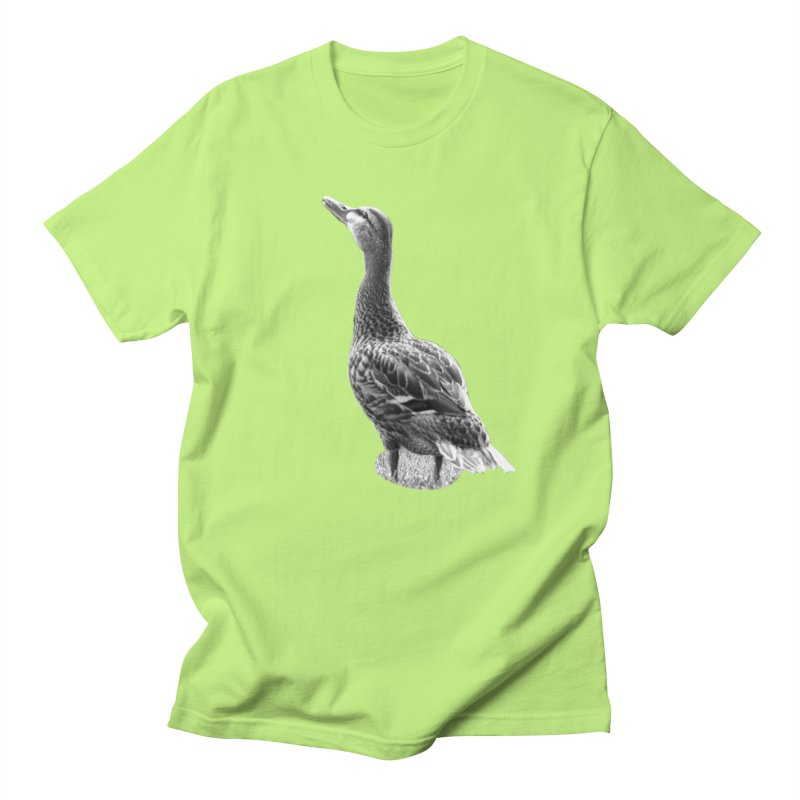 Duck looking up - Black and White Women's Regular Unisex T-Shirt by Make a statement, laugh, enjoy.