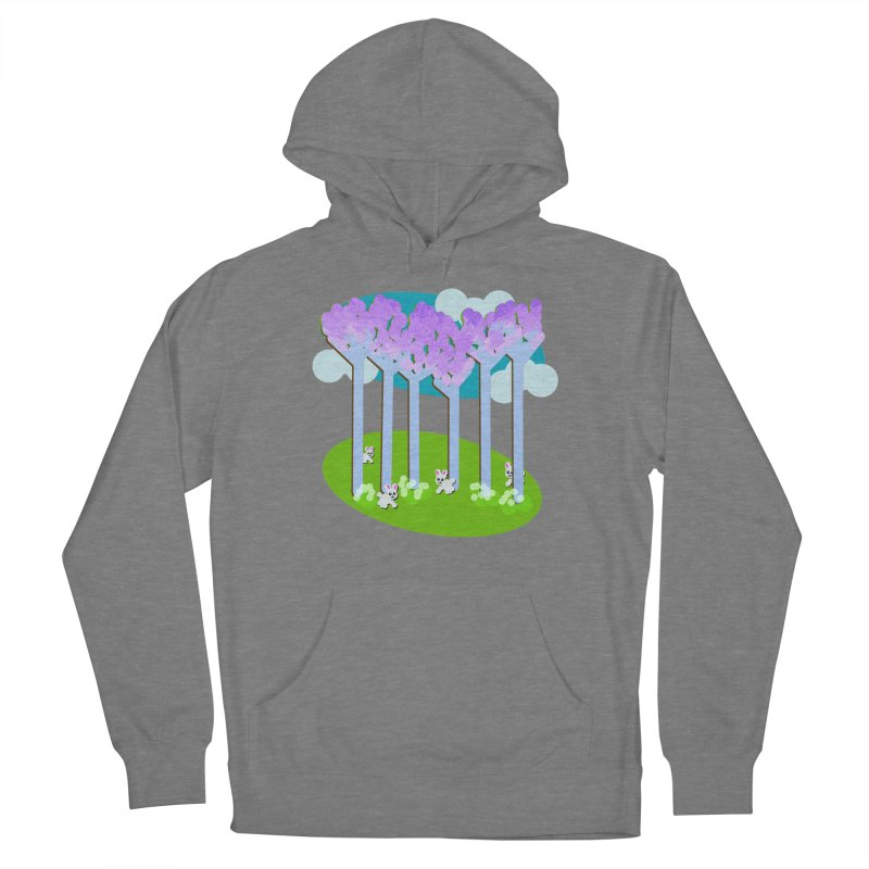 Pastel Woods with Bunnies Women's Pullover Hoody by Make a statement, laugh, enjoy.