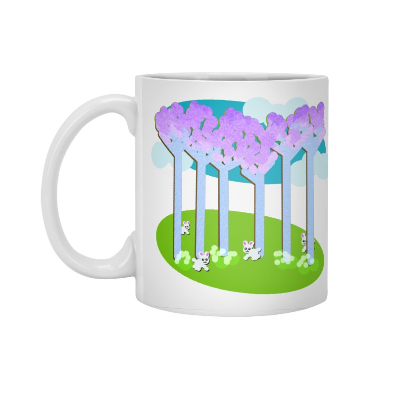 Pastel Woods with Bunnies Accessories Standard Mug by Make a statement, laugh, enjoy.
