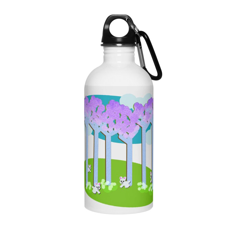 Pastel Woods with Bunnies Accessories Water Bottle by Make a statement, laugh, enjoy.