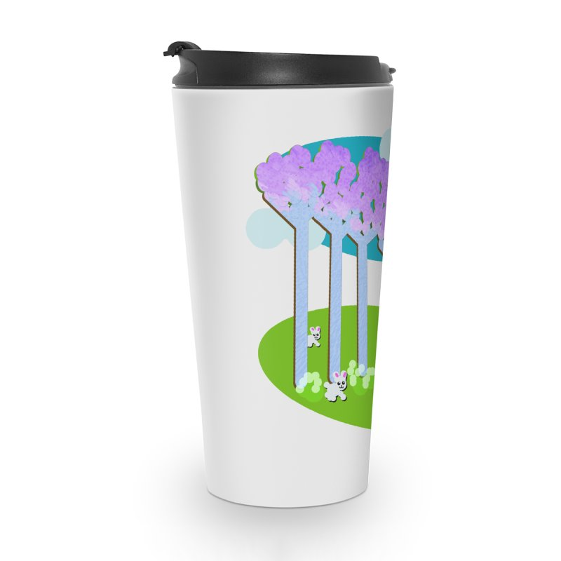 Pastel Woods with Bunnies Accessories Travel Mug by Make a statement, laugh, enjoy.